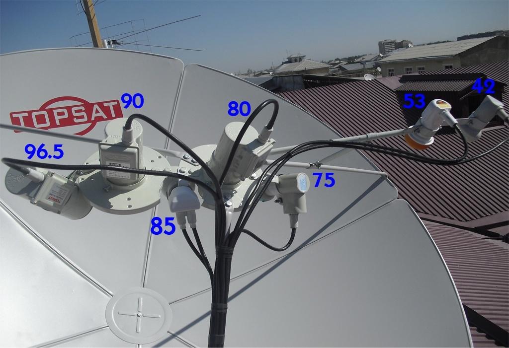 Установка спутниковой антенны на три головки своими руками
